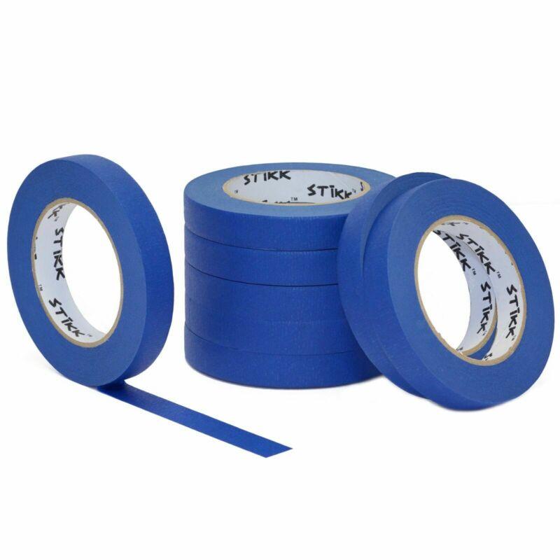 "8 roll pack 3/4""(.75) x 60yd (18mm x 55m) STIKK Blue Painters Masking Tape"