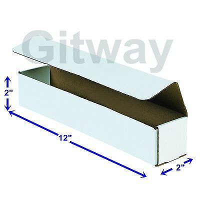 50-12x2x2 White Corrugated Carton Cardboard Packaging Shipping Mailing Box Boxes