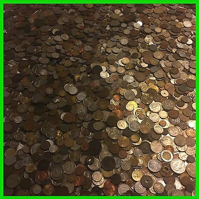 ✯ TEN 10 FULL LB POUNDS FOREIGN COINS ✯ OLD UNSEARCHED WORLD MONEY LOT SILVER✯
