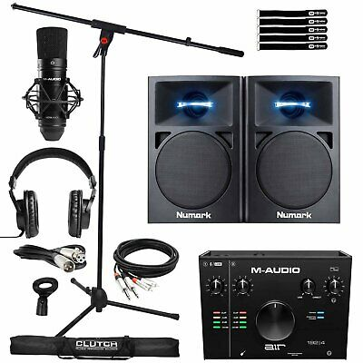 Home Studio Recording M-Audio Air 192 Pro Interface Mic Headphones & Speakers