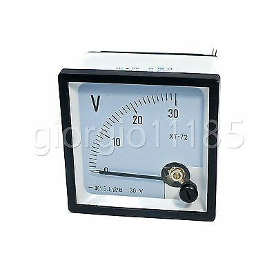 Us Stock Dc 030v Square Analog Volt Pointer Needle Panel Meter Voltmeter Xt-72