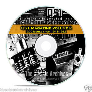 QST Magazine, Volume 2, 200 Vintage Old Time Ham Radio Issues DVD CD C06
