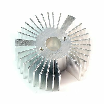 5pcs 53x21mm Round Sunflower Aluminum Alloy Heat Sink For 1w-5w Led Silver White