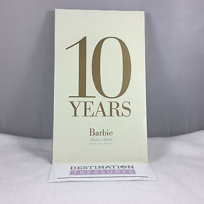 10 TEN YEARS BARBIE Fashion Modern Collection Doll Book Sealed Robert Best 2010