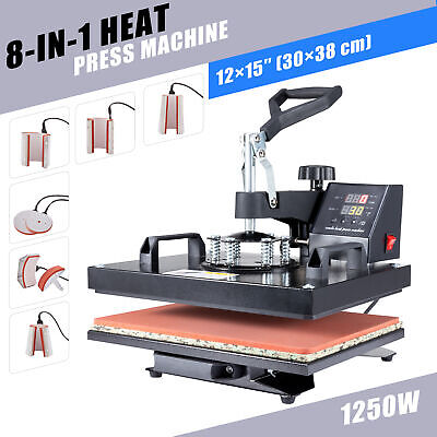 12x15 8 In 1 Heat Press Machine Multifunction Digital Transfer Sublimation