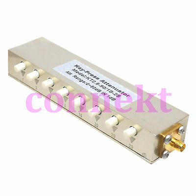 Rf Coaxial Adjustable Step 1db Attenuator Sma Connector Dc-2.5ghz 10watts 090db