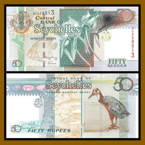 Seychelles 50 Rupees, ND 1998 P-38 Unc