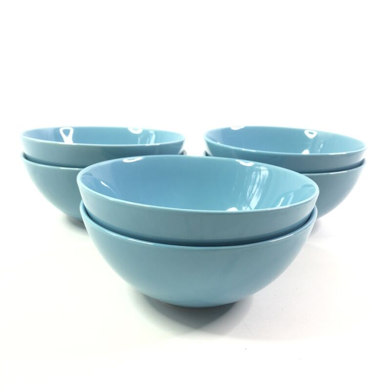 Ikea Fargrik Turquoise Coupe Cereal Bowls Set of 6