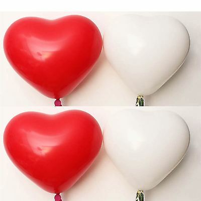Heart Balloons Ballons Wedding Anniversary Valentines Day Party Decorations - Valentines Ballons