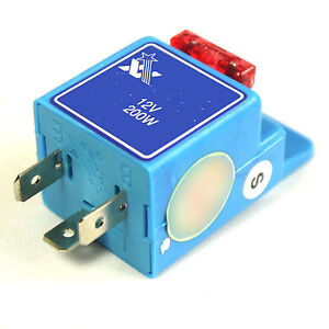 12V 3 PIN LED FLASHER RELAY UNIT BLINKER INDICATOR GLOBE TURN SIGNAL 10A FUSE