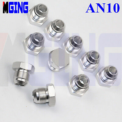 Adapter Fuel Hose Tank Fitting Adaptor Male -10 AN10 10-AN AN-10 to One NPT 10ps