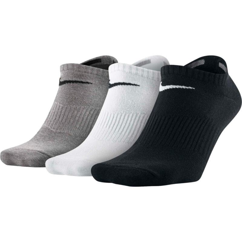 3 Pairs Mens Womens Ankle Quarter Low Sports Gym Socks Cotton Black White