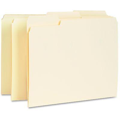Business Source Interior File Folders 13 Cut Assorted Letter 100bx Manila