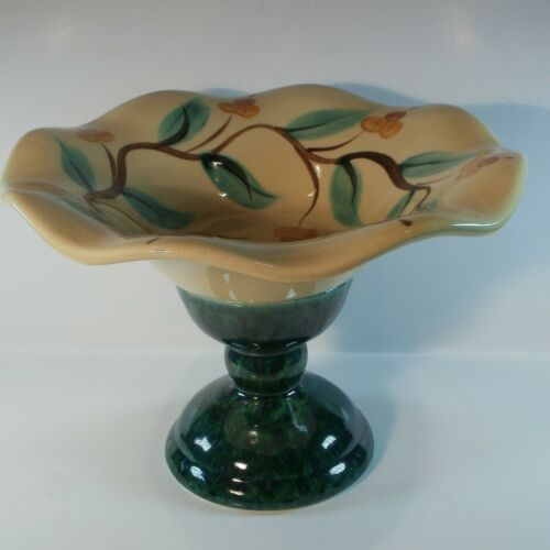 Vintage Southern Living At Home Ruffled Bowl With Candle Pedistal Holder