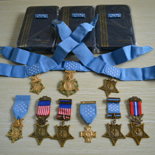 US ORDER WW12 ARMY NAVY AIR FORCE OF MEDAL HONOR FULL SET,10 Medals Scarce!!