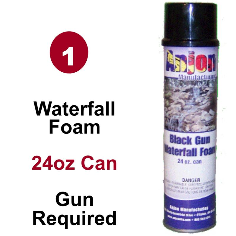 1 Can Waterfall Gun Foam 24oz  For Koi Ponds