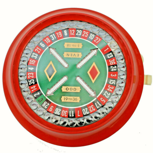 WACO V II III Plastic Electronic Spinning Light Roulette Wheel - Works See Video