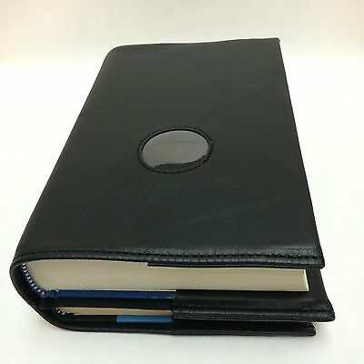 AA Big Book and 12 & 12 Black Leather Cover with Chip Holder