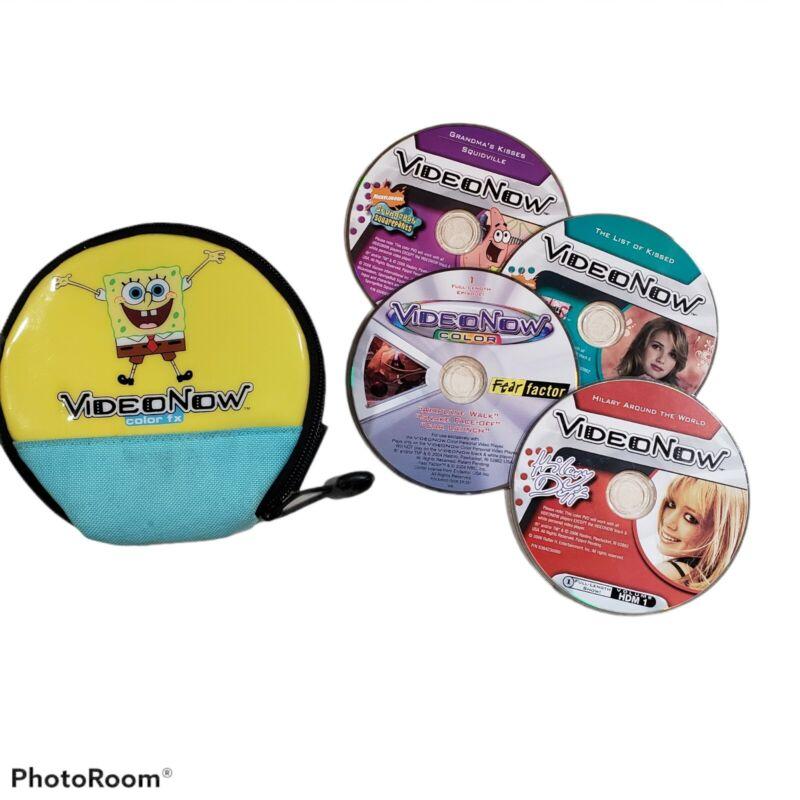 Video Now Color FX SpongeBob SquarePants Case and 4 Discs