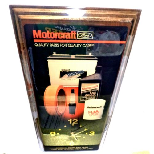 Ford Motorcraft  Sign/Clock lincoln mercury dealer display in box WORKING!