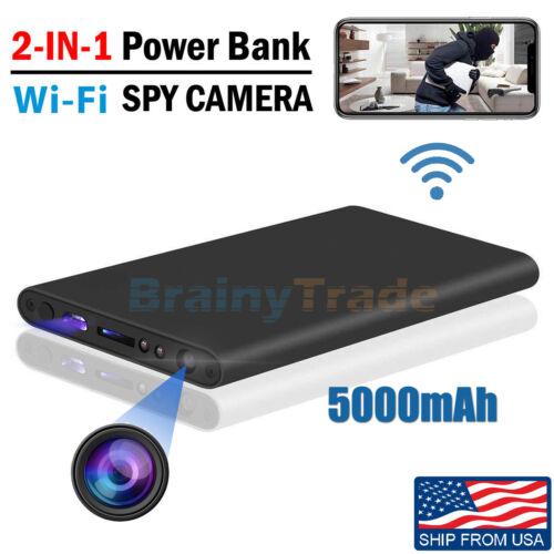 Hidden Camera Power Bank Spy DVR WIFI Recorder Real-time Vie