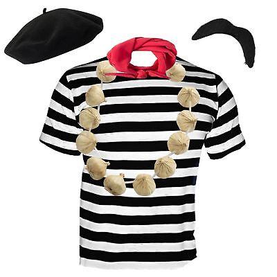 Herren Französisch Herren Kostüm Verkleidung Frankreich 5 Stk. Satz - Französisch Kellner Kostüm