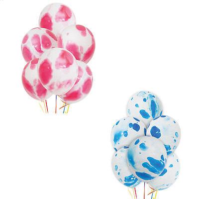 Pink/White & Blue/White Marbled Tie Dye 12