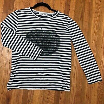 "Comme des Garçons CDG ""Apple"" Striped Long Sleeve Knit Shirt Vintage Medium"