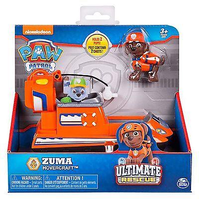 Paw Patrol Ultime Secours Zuma Hovercraft Pup Figurine pour Enfants Jeu Jouet