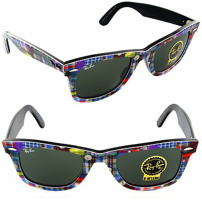 Ray-Ban RB2140 1135 50mm Wayfarer Sunglasses Plaid/Green Lens [50-22-150]