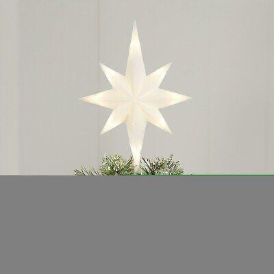 NEW WHITE STAR W LED WHITE LIGHTS CHRISTMAS Tree Topper NEW WOW!