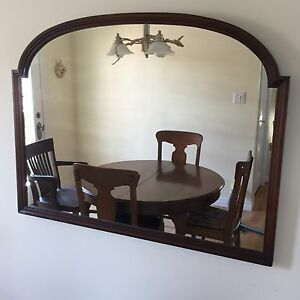 Large Wood-Framed Mirror