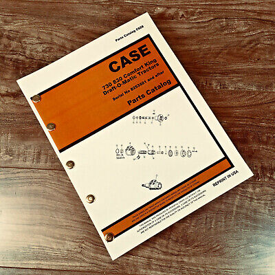 Case 730 830 Series Draft-o-matic Tractor Parts Manual Catalog Sn8253501 After