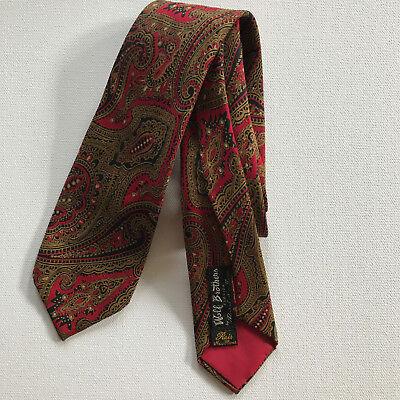 1950s Men's Ties, Bow Ties – Vintage, Skinny, Knit Vintage 1950s WOLF BROTHERS FLORIDA Silk Tie 2