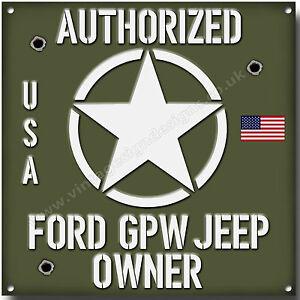 FORD-GPW-JEEP-Autorizado-FORD-GPW-JEEP-Amo-Metal-Letrero-Vintage-EU-JEEPS