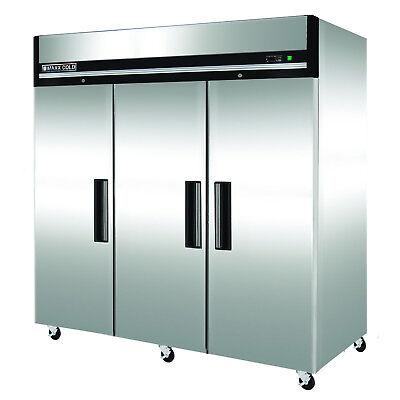 Maxx Cold 81 W Three 3 Door Upright Reach-in Commercial Sub Zero Freezer 72cf
