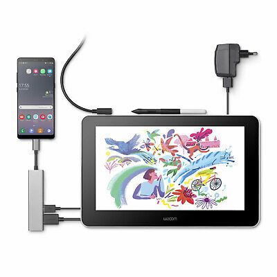 Wacom One 13 pen Display Grafiktablet E-learning FHD 13.3 200cd 16:9 USB...