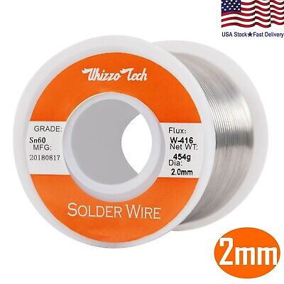 60-40 Tin Rosin Core Solder Wire For Electrical Soldering Flux 0.078inch2mm 1lb