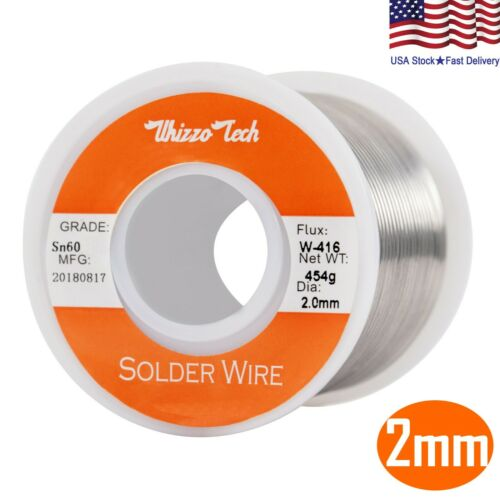 60-40 Tin Rosin Core Solder Wire for Electrical Soldering Flux 0.078inch/2mm 1lb