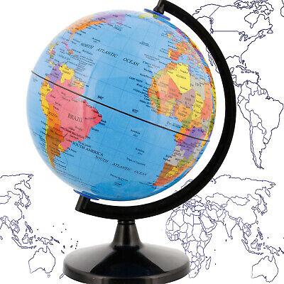 WORLD GLOBE EARTH Map Rotating Geography Ocean Classroom Learning Desktop 6