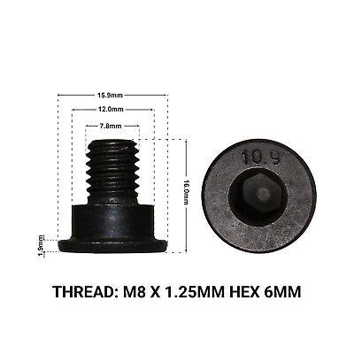 2X FRONT BRAKE DISC RETAINING SCREWS FITS: BMW X3 E83 04-11 DRS1662P