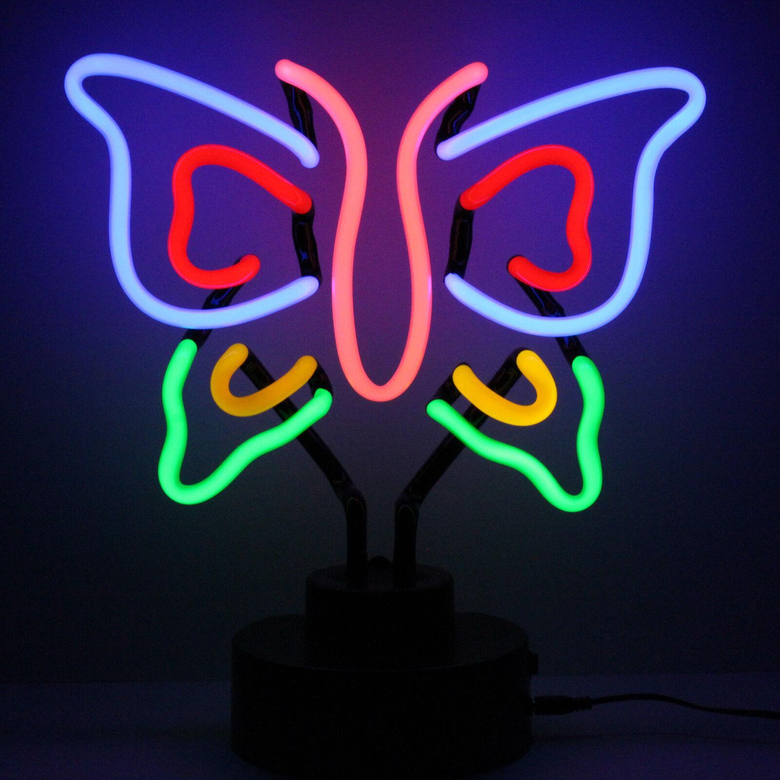 Meglio Neon O Led dettagli su neon in monarca farfalla 40cm alto neonetics 4blfy2 comodino  lampada da lettura