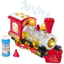 Kids Toy Blowing Bubble Train Car Music, Lights and Bump'n'Go Battery Operated