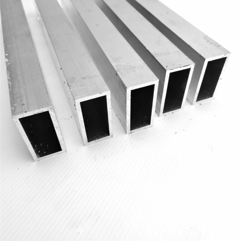 "1"" X 2 "" OD Alumnum Rec TUBING 0.125"" wall thickness 37"" long QTY 5 sku174038"
