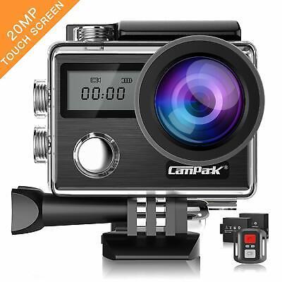Campark Action Cam X20 HD 20MP 4K WiFi Touch Screen Macchina Fotografica Suba...