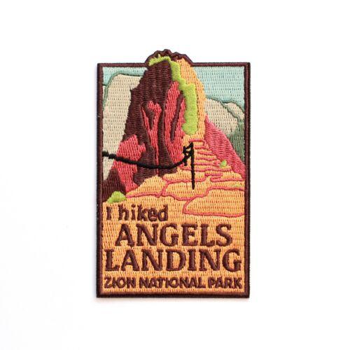Official Zion National Park Souvenir Patch - I Hiked Angels Landing - Utah