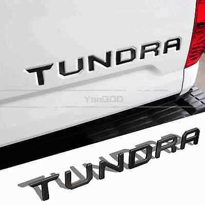BLACK Tailgate Letters Insert Plastic Sticker For TOYOTA TUNDRA 2014-2018