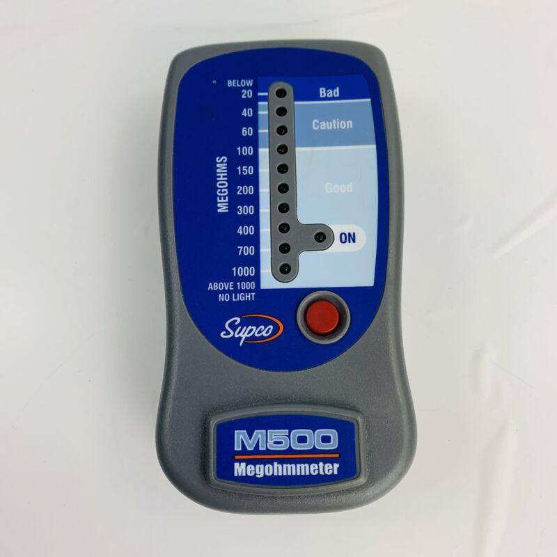 Supco M500 Megohm Meter Insulation Tester 20 to 1000 Megohms 500 Volts