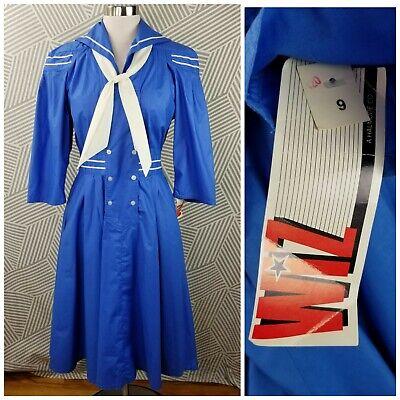 Vintage 70s 80s New Sailor Dress size 9/10 Medium costume cosplay Dead Stock
