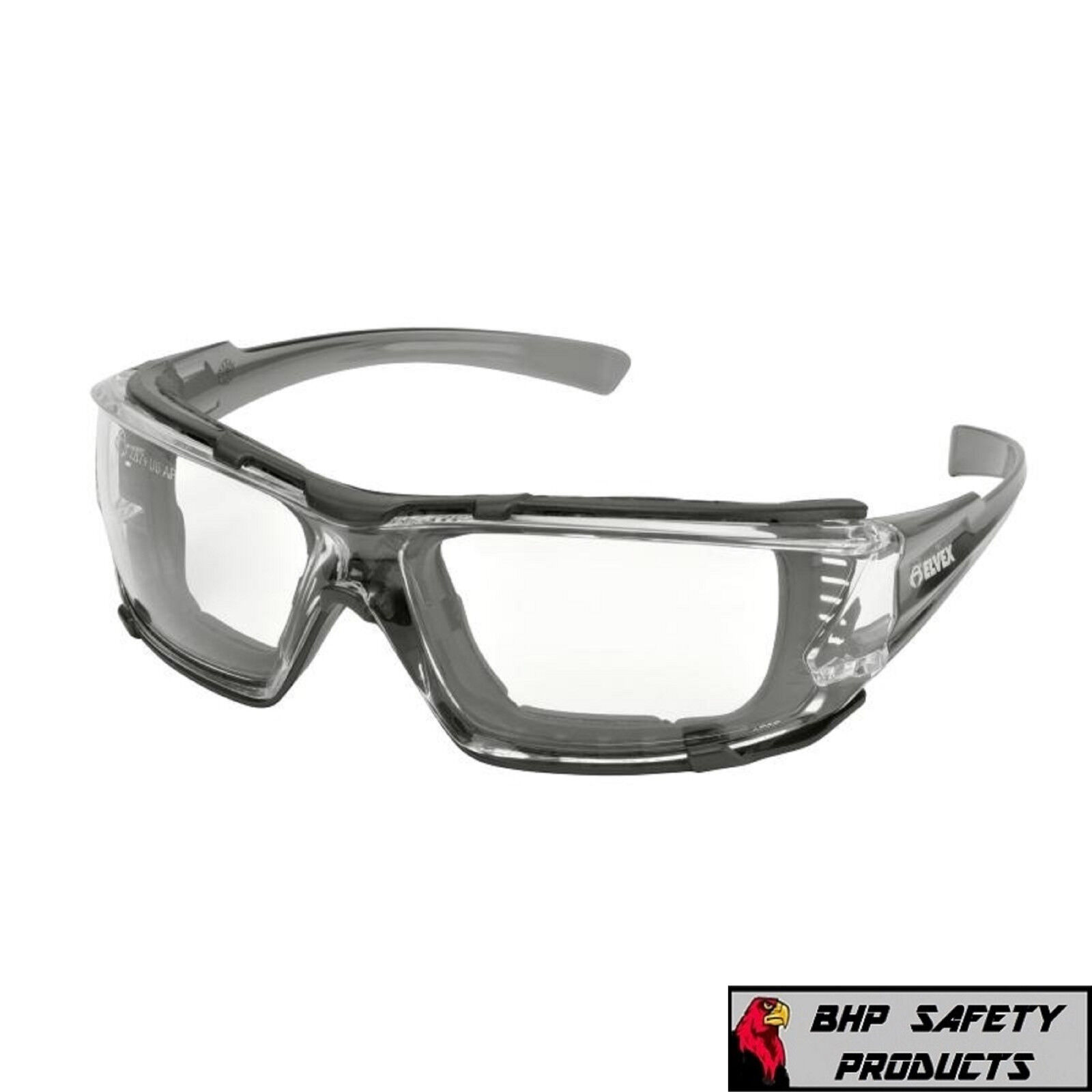 Elvex Go Specs IV Safety/Glasses/Goggles Clear A/F Dark Gray